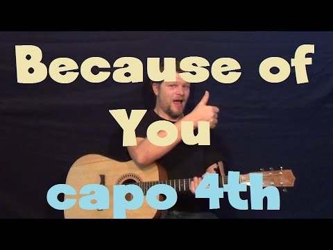 Because of You (Ne-Yo) Easy Strum Guitar Lesson How to Play Tutorial ...