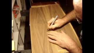 Tablett mit Intarsie, Intarsie schneiden 1