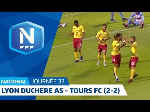 J33 : Lyon Duchere AS - Tours FC (2-2), le résumé I National FFF 2018-2019