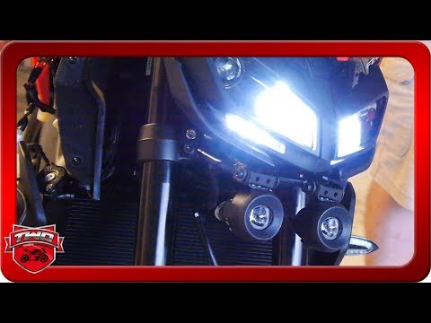 How To Install 2017 FZ09 MT09 Yamaha Fog Light Kit And Test Results