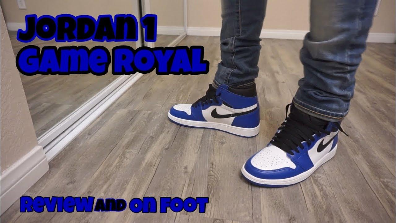 c27ec4679e8e Jordan 1 Game Royal Review and On Feet!!! - YouTube