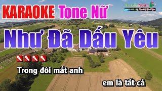 Như Đã Dấu Yêu Karaoke | Tone Nữ - Nhạc Sống Thanh Ngân