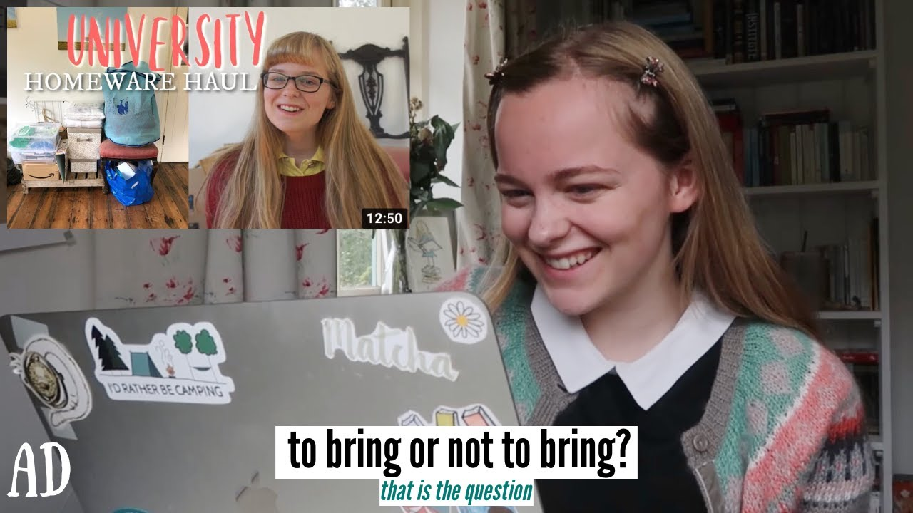 What to bring (and NOT to bring) to university || + reacting to first year haul!!