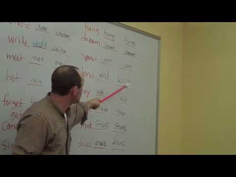Learn English ESL Irregular Verbs Grammar Rap Song! StickStuckStuck with Fluency MC!