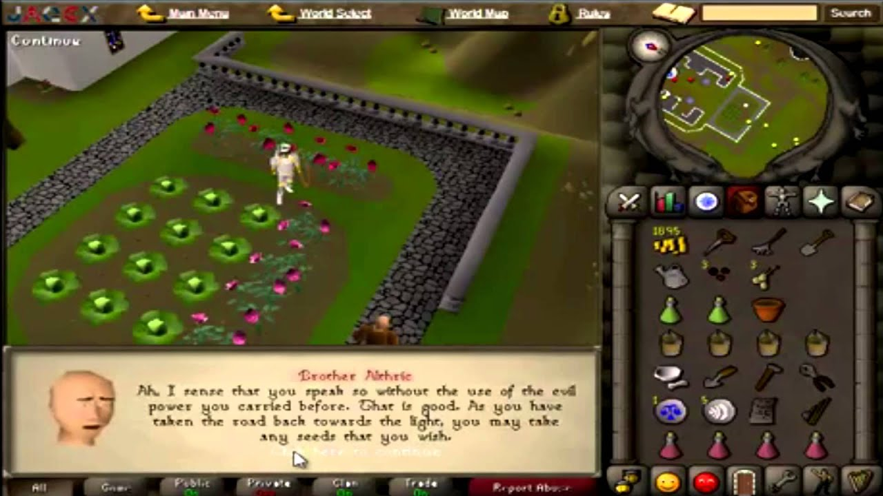 Old School Runescape Lets Play Episode 30 Garden Of Tranquility Quest Guide Alex Youtube