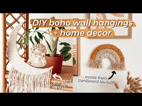 making-diy-boho-home-decor-with-cardboard!-|-dollar-store-crochet-moon-rainbow-wall-hanging