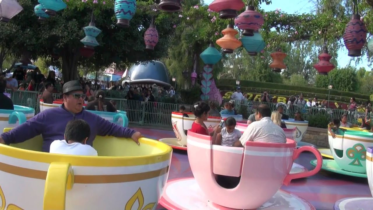2011 Disneyland Mad Hatter's Tea Party Entrace to Exit POV ...