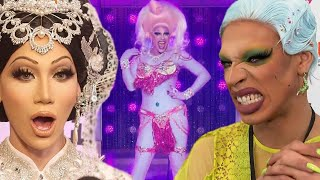 From Shuga Cain's troll to Nina West's pimple dress and Silky Nutmeg Ganache's roach, the queens of season 11 are taking a walk down runway memory lane.