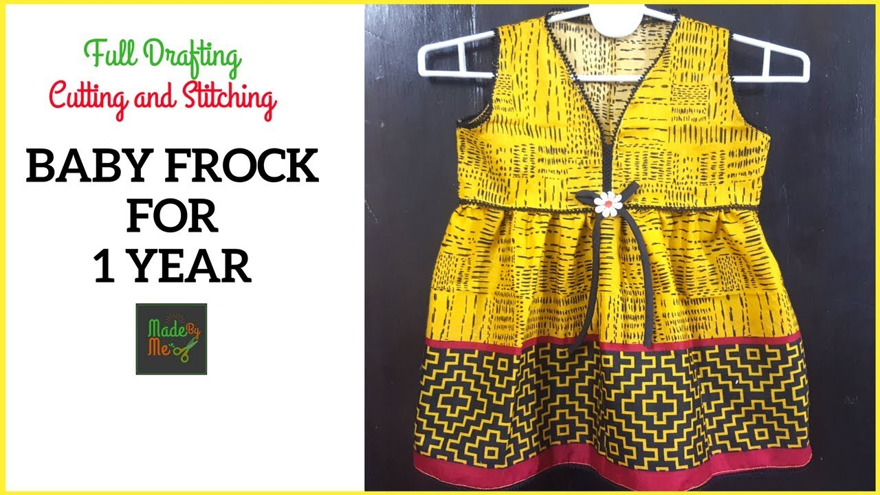 061bd9c93d BABY FROCK for 1 Year with Drafting Cutting and Stitching in Hindi/Urdu