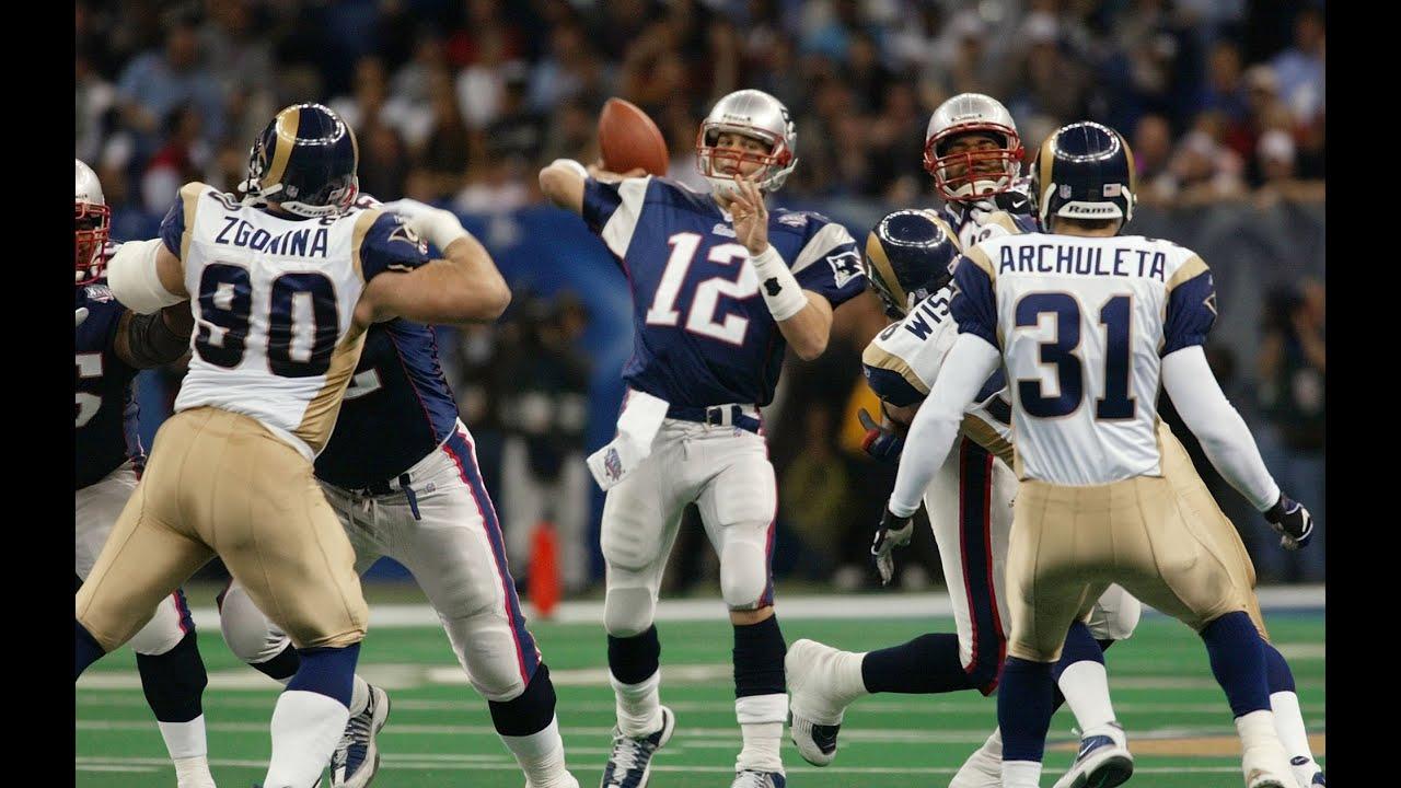 Super Bowl Xxxvi Patriots Vs Rams Youtube