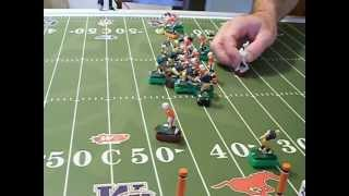 Electric Football Roller Board Canadian Football League size football field.  MFCA Coach Pat CFLer