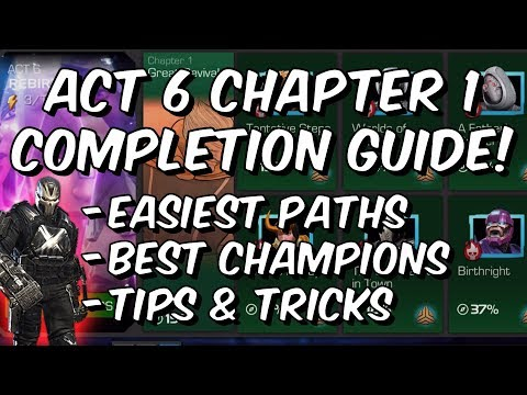 Act 6 Chapter 1 Completion Guide - Cavalier - Easiest Paths & Tips - Marvel Contest of Champions
