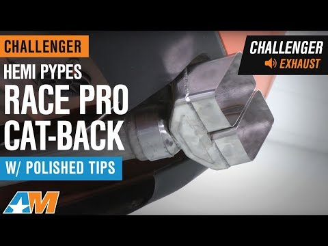 2009-2014 Challenger 5.7L HEMI Pypes Race Pro Cat-Back W/ Polished Tips Exhaust Sound Clip & Install