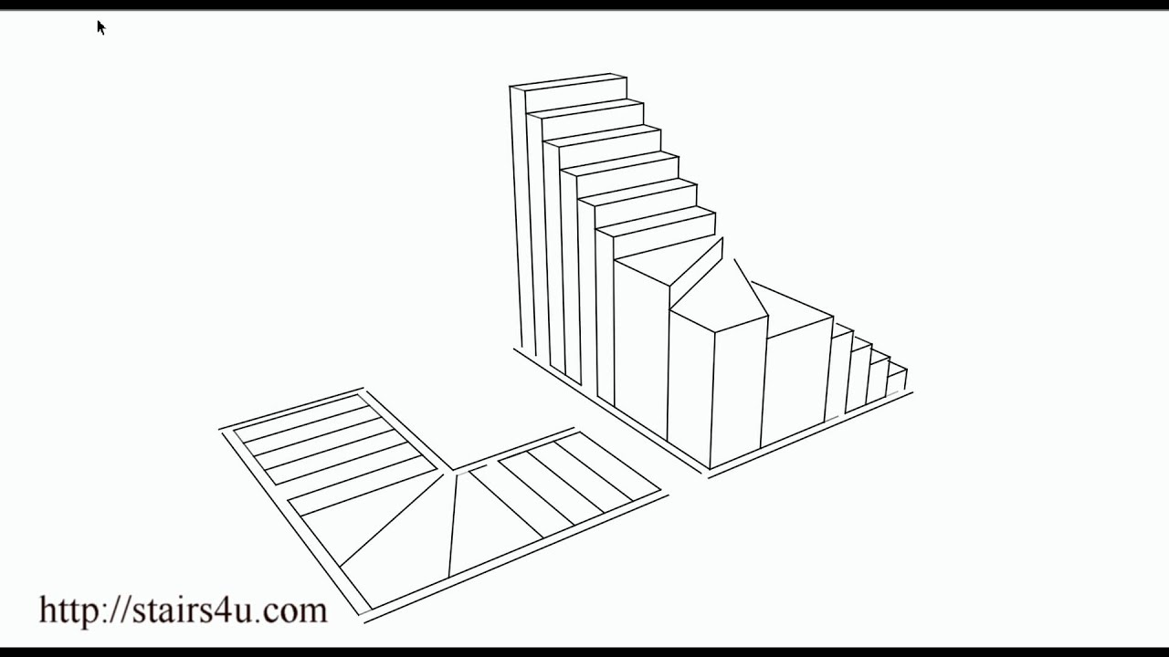 What Is A Winder Stairway? U2013 Floor Plan And Three Dimensional Drawing