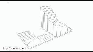 What Is A Winder Stairway? – Floor Plan And Three Dimensional Drawing