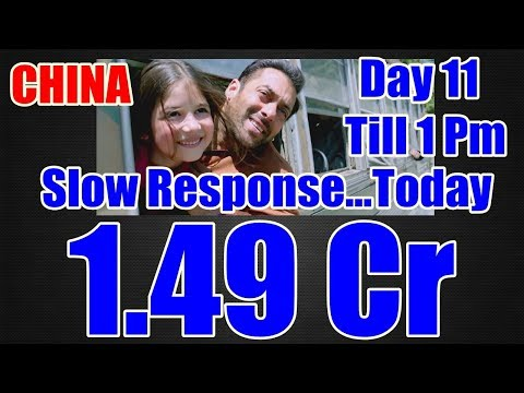 Bajrangi Bhaijaan Collection Day 11 In CHINA Till 1 Pm