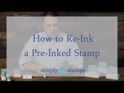 How To Re-ink a Pre-inked Stamp