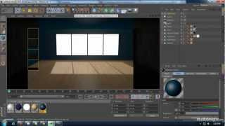 creating a room using cinema 4d