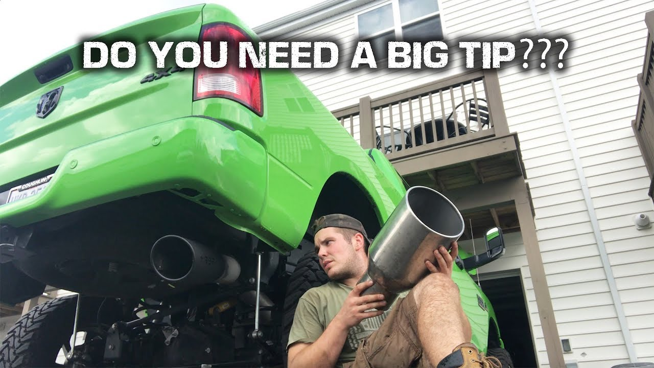 tip size does it matter new exhaust tip