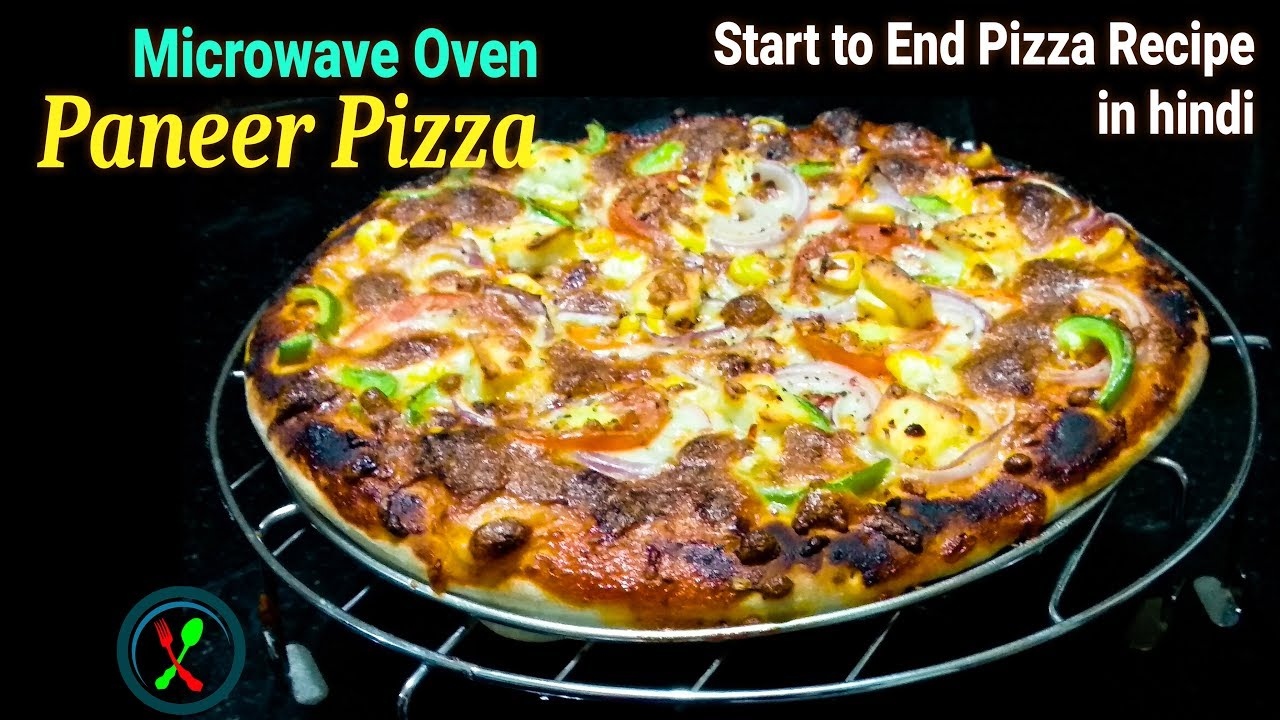 Pizza Recipe | Paneer Pizza in Microwave Convection Oven ...