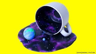 DIY Universe In A Cup - How To Make Miniature Cosmos With Galaxies In A Cup