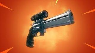 Jugando Con *nuevo* Revolver Con Mira! Fortnite: Battle Royale