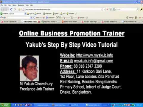 video online business promotion by m yakub chowdhury freelance trainer