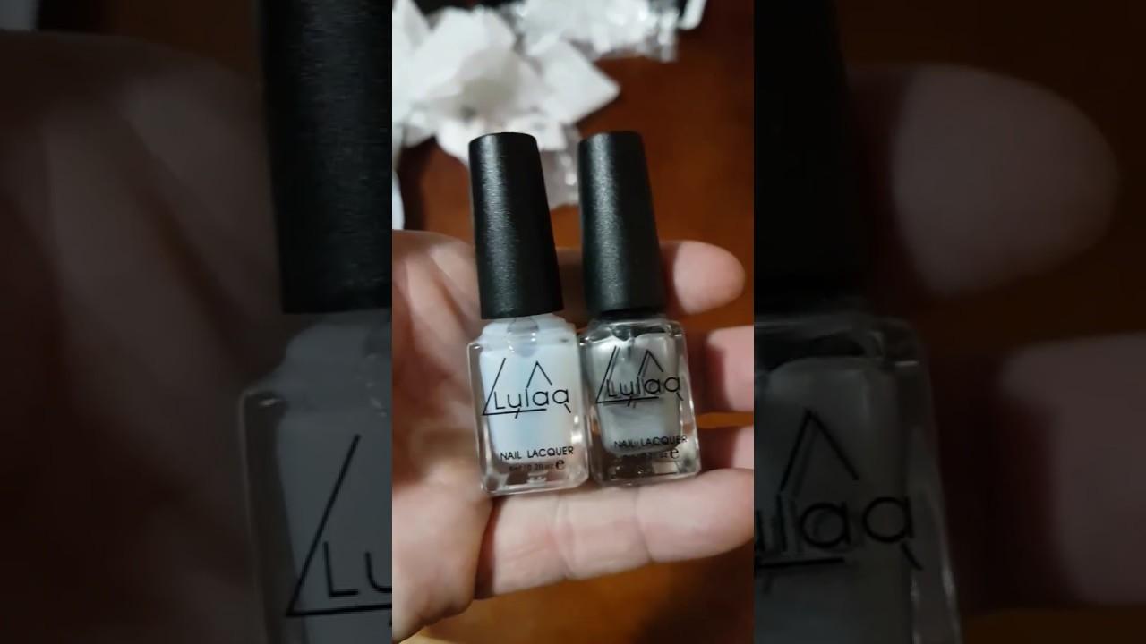 LULAA 2pcs Silver Mirror Effect Metal Nail Polish Varnish Top Coat ...