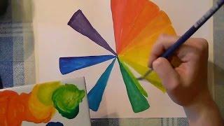 Видео уроки рисования - Радуга цвета