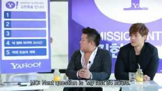 Kim Hyun Joong - Yahoo! Celeb Mission Full Interview (Eng Sub)