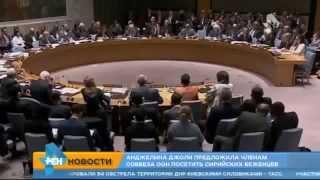 Анджелина Джоли отчитала представителей Совбеза ООН  Сирия   Россия   ИГИЛ 2015