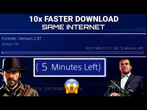 HOW TO BOOST DOWNLOAD SPEED ON PS4 WITH SAME INTERNET!