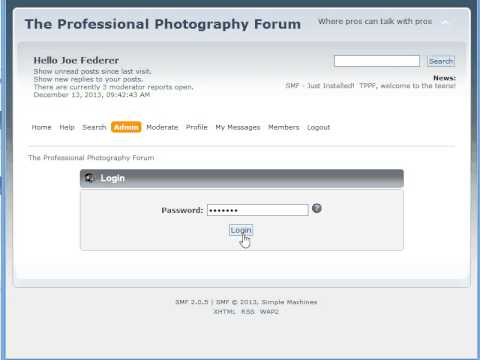 How to ban a user at The Professional Photography Forum