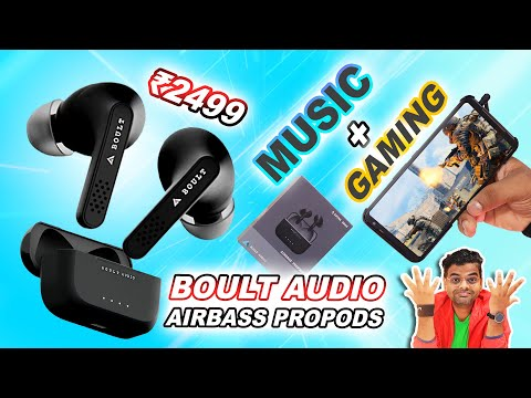Boult Audio Airbass Propods TWS 🎵 With Low Latency For Gaming