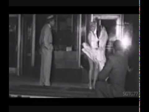 Rare Footage Of Marilyn Monroe And Joe Dimaggio On The Set Of SYI Skirt Blowing Up Scene 1954 - 동영상