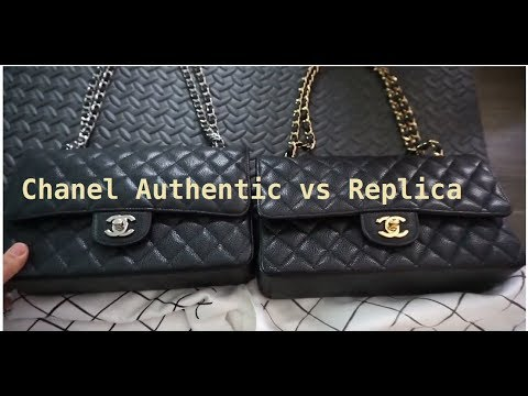 Chanel Comparison. Authentic vs. Replica Medium flap 2.55