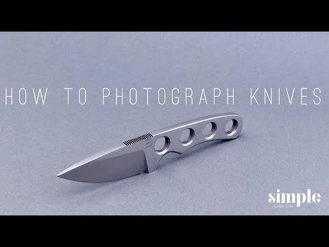 Photography is light   (how to photograph your handmade knives)