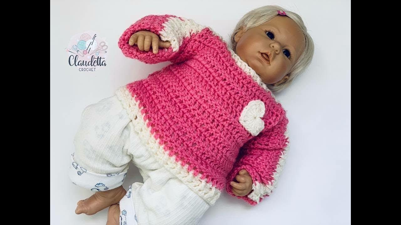 Einfachen Baby Pullover Häkeln Super Für Anfänger Geeignet Youtube