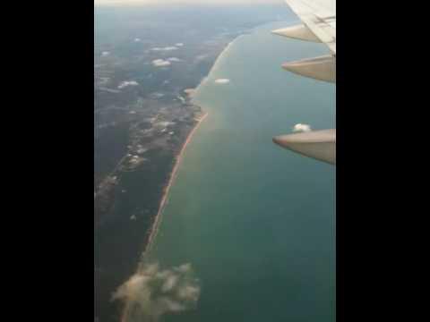Flight over Lake Michigan