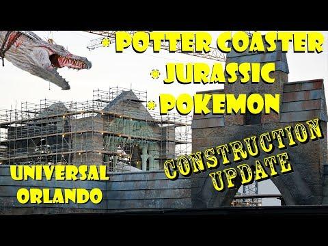 Universal Orlando Resort Construction Update 11.15.18 Harry Potter / Jurassic / Pokemon / New Store