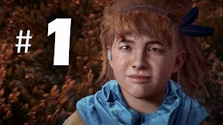 Horizon Zero Dawn Gameplay Walkthrough Part 1 - Aloy Training (PS4 Pro)