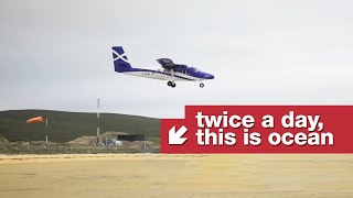 Landing at the only airport that's also a public beach