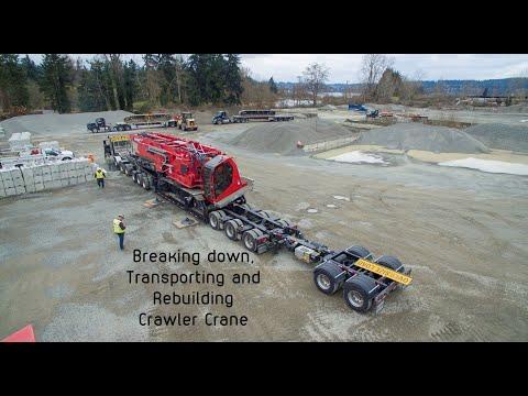 Manitowoc MLC300 Crawler Crane Breakdown, Transport, Assemble