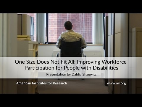 One Size Does Not Fit All: Improving Workforce Participation