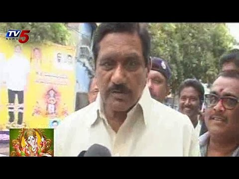 K.E Krishnamurthy Ganesh Chaturthi Celebrations in Kurnool : TV5 News