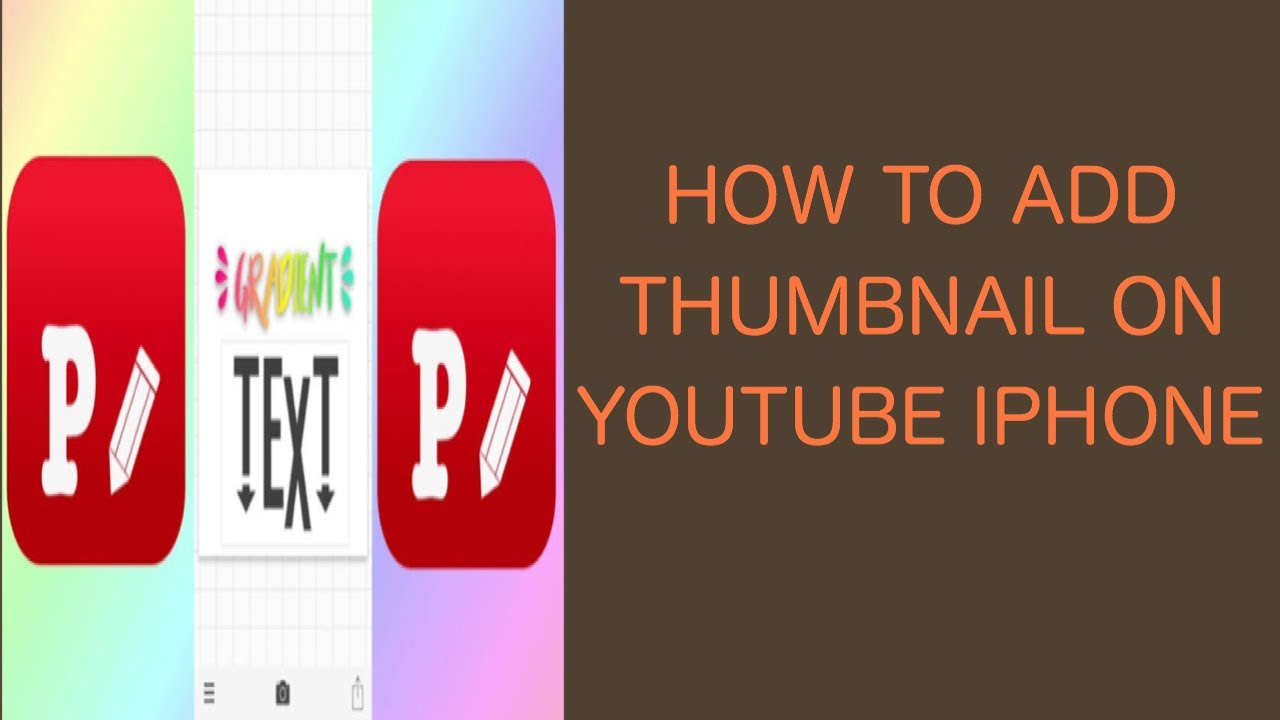 HOW TO ADD THUMBNAIL ON YOUTUBE IPHONE/IOS - YouTube