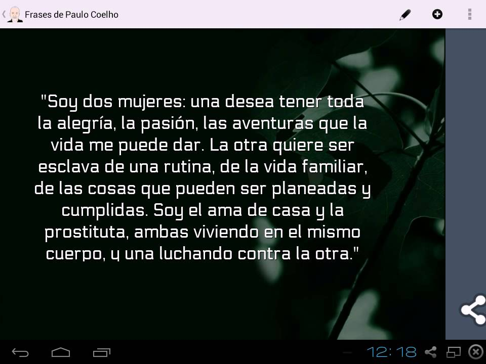 Frases De Paulo Coelho: Frases De Paulo Coelho Para Android