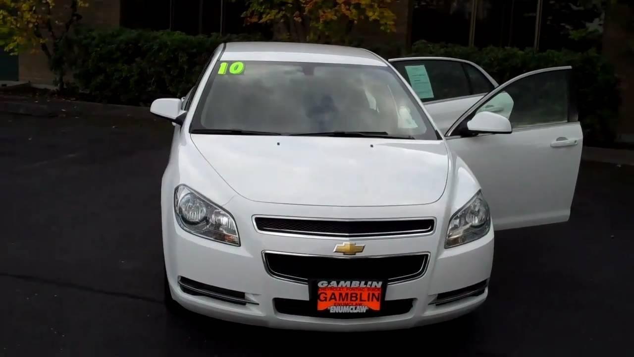 2010 Chevrolet Malibu White Art Gamblin Motors Tim Smitty Smith V2020