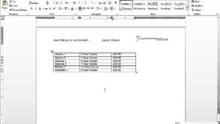 Mastering Word 2013   Lesson 31   Formatting Tables 25