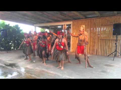 Traditional dance by native Chomorro in Guam.
